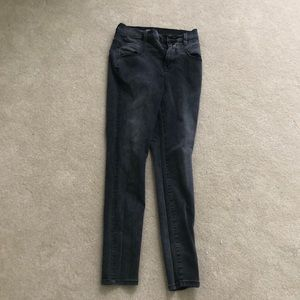 Dark grey wash high waisted jeans!